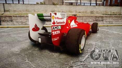 Ferrari 150 Italia Massa para GTA 4 Vista posterior izquierda
