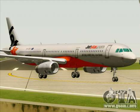 Airbus A321-200 Jetstar Airways para GTA San Andreas left