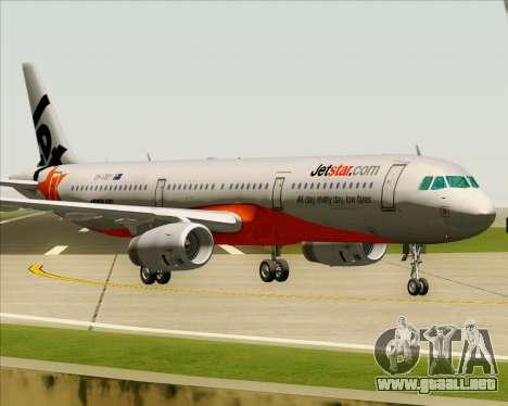 Airbus A321-200 Jetstar Airways para GTA San Andreas left