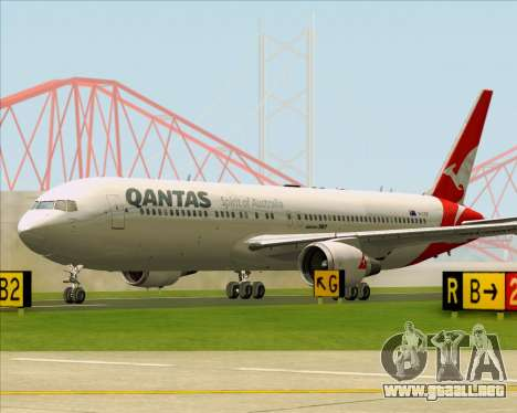 Boeing 767-300ER Qantas (New Colors) para vista inferior GTA San Andreas