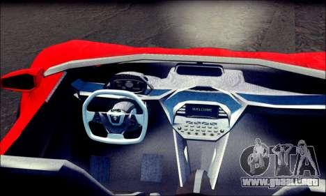 Specter Roadster 2013 (SA Plate) para GTA San Andreas vista posterior izquierda