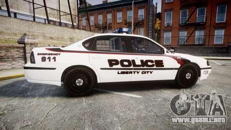 Chevrolet Impala 2003 Liberty City Police [ELS] para GTA 4 left