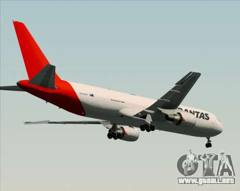Boeing 767-300F Qantas Freight para GTA San Andreas vista hacia atrás