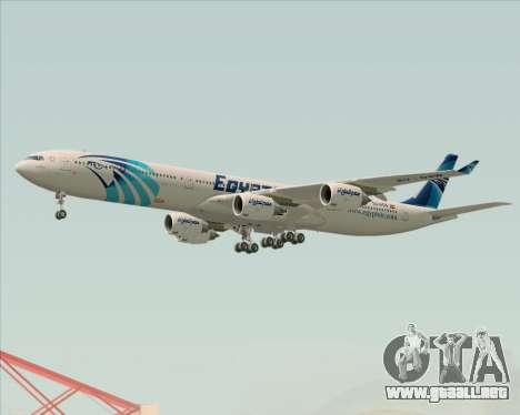 Airbus A340-600 EgyptAir para las ruedas de GTA San Andreas