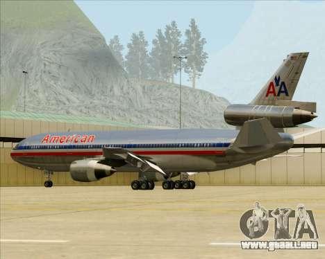 McDonnell Douglas DC-10-30 American Airlines para las ruedas de GTA San Andreas