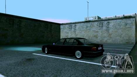 BMW 750iL para GTA San Andreas vista hacia atrás
