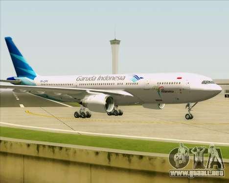 Airbus A330-243 Garuda Indonesia para GTA San Andreas vista hacia atrás