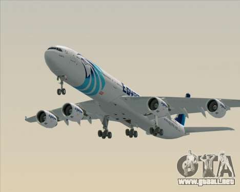 Airbus A340-600 EgyptAir para el motor de GTA San Andreas