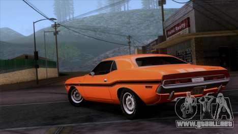Dodge Challenger 426 Hemi (JS23) 1970 (ImVehFt) para GTA San Andreas left