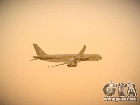 Airbus A321-232 Royal Jordanian Airlines para vista inferior GTA San Andreas