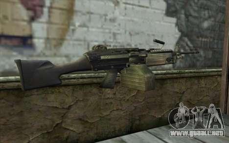 FN M249E2 SAW from SoF: Payback para GTA San Andreas segunda pantalla