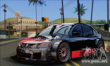 Dacia Logan Trophy Edition 2005 para GTA San Andreas vista hacia atrás