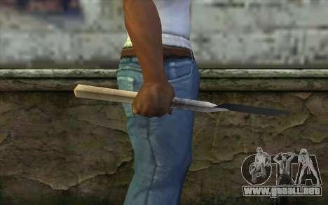 Alemán pala para GTA San Andreas tercera pantalla