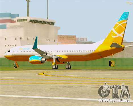 Boeing 737-800 Orbit Airlines para la vista superior GTA San Andreas