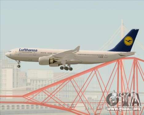 Airbus A330-200 Lufthansa para vista inferior GTA San Andreas