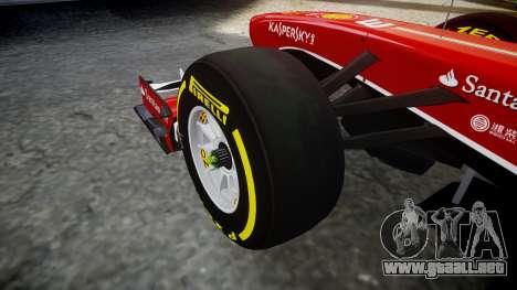 Ferrari F138 v2.0 [RIV] Alonso TSD para GTA 4 vista hacia atrás