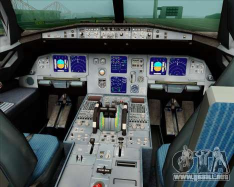 Airbus A321-200 Jetstar Airways para GTA San Andreas interior