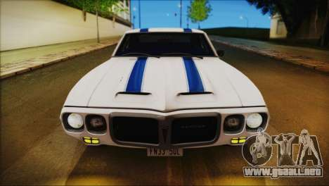 Pontiac Firebird Trans Am Coupe (2337) 1969 para el motor de GTA San Andreas