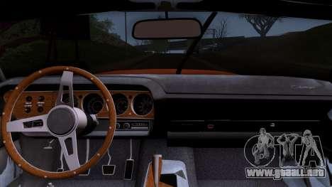 Dodge Challenger 426 Hemi (JS23) 1970 (ImVehFt) para la visión correcta GTA San Andreas