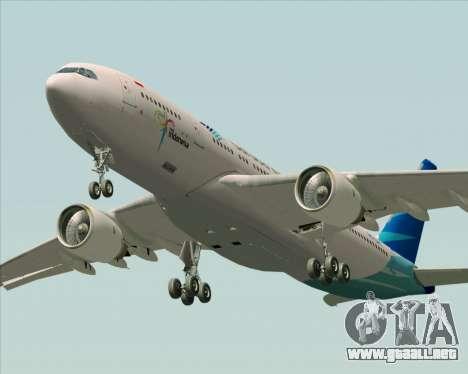 Airbus A330-243 Garuda Indonesia para la vista superior GTA San Andreas