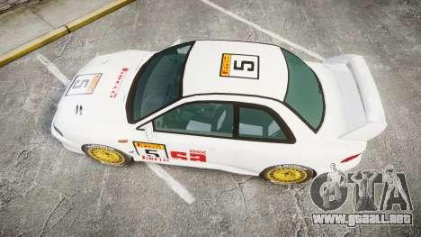 Subaru Impreza WRC 1998 SA Competio para GTA 4 visión correcta