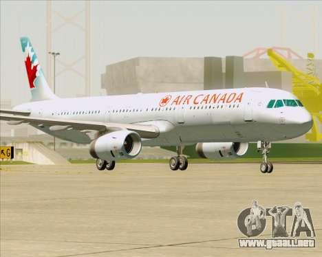 Airbus A321-200 Air Canada para vista inferior GTA San Andreas