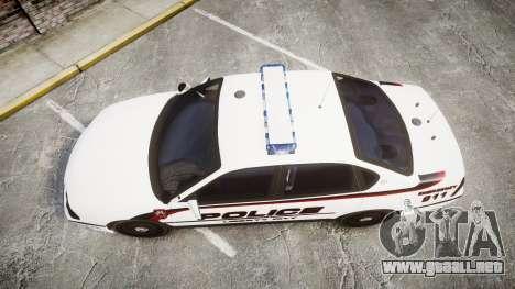 Chevrolet Impala 2003 Liberty City Police [ELS] para GTA 4 visión correcta
