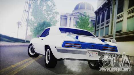 Pontiac Firebird Trans Am Coupe (2337) 1969 para GTA San Andreas left