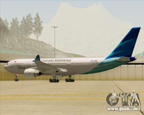 Airbus A330-243 Garuda Indonesia para las ruedas de GTA San Andreas
