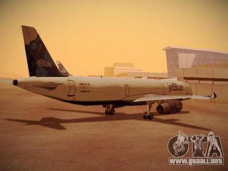 Airbus A321-232 jetBlue La vie en Blue para la visión correcta GTA San Andreas