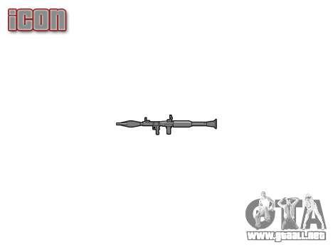 Portátil antitanque lanzagranadas (RPG) para GTA 4 tercera pantalla