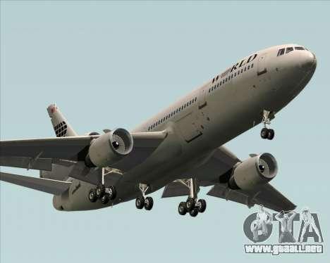 McDonnell Douglas DC-10-30 World Airways para visión interna GTA San Andreas