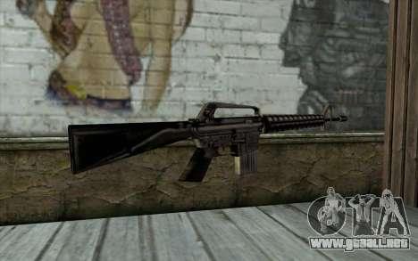 M16 from Beta Version para GTA San Andreas segunda pantalla