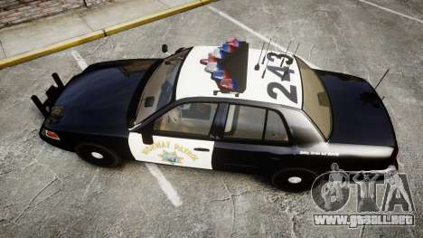 Ford Crown Victoria CHP CVPI Vision [ELS] para GTA 4 visión correcta