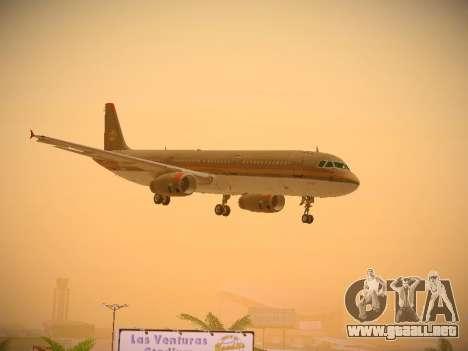 Airbus A321-232 Royal Jordanian Airlines para vista lateral GTA San Andreas