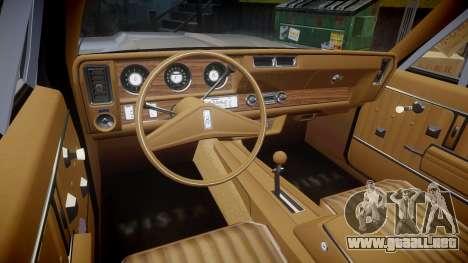 Oldsmobile Vista Cruiser 1972 Rims1 Tree1 para GTA 4 vista hacia atrás