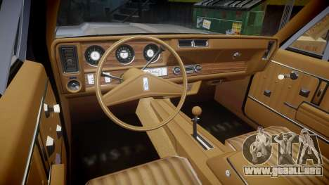 Oldsmobile Vista Cruiser 1972 Rims1 Tree2 para GTA 4 vista hacia atrás