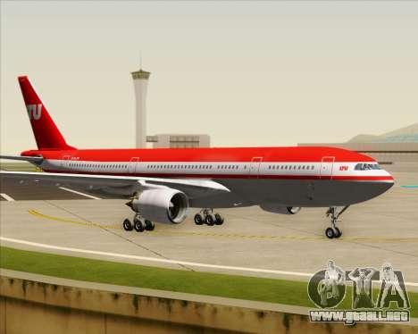 Airbus A330-200 LTU International para visión interna GTA San Andreas