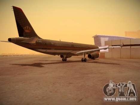 Airbus A321-232 Royal Jordanian Airlines para la visión correcta GTA San Andreas