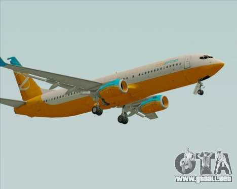Boeing 737-800 Orbit Airlines para GTA San Andreas left