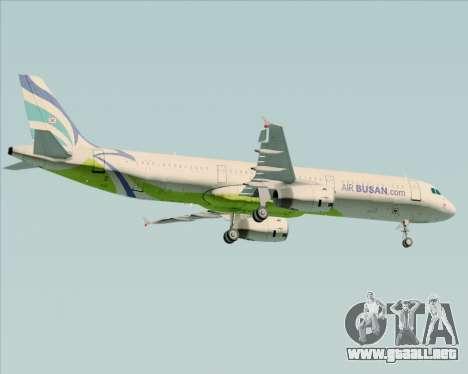 Airbus A321-200 Air Busan para la visión correcta GTA San Andreas