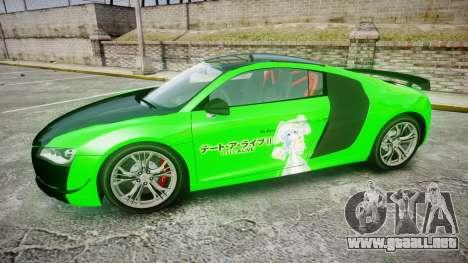 Audi R8 GT Coupe 2011 Yoshino para GTA 4 left