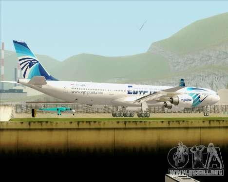 Airbus A340-600 EgyptAir para la vista superior GTA San Andreas