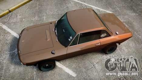 Lancia Fulvia HF (Camber) para GTA 4 visión correcta