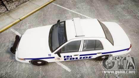 Ford Crown Victoria F.B.I. Police [ELS] para GTA 4 visión correcta