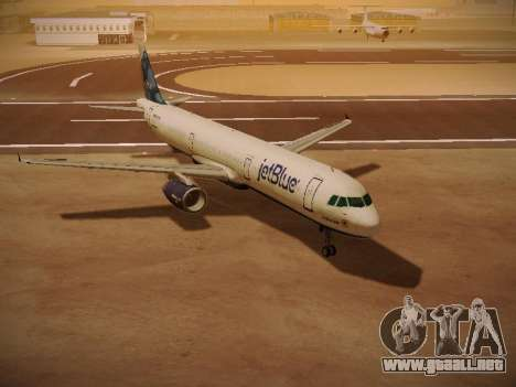 Airbus A321-232 jetBlue La vie en Blue para GTA San Andreas left