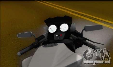 Vader from GTA 5 para GTA San Andreas vista posterior izquierda