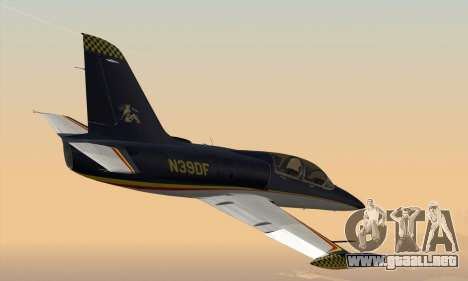 Aero L-39C para GTA San Andreas vista posterior izquierda