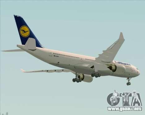 Airbus A330-200 Lufthansa para vista lateral GTA San Andreas