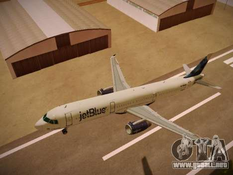 Airbus A321-232 jetBlue La vie en Blue para GTA San Andreas interior